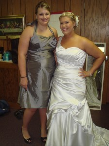 Here is the bridesmaid dress in it's original state :)