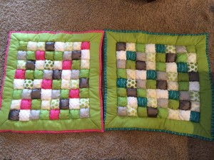 Amalia and Jackson's quilts